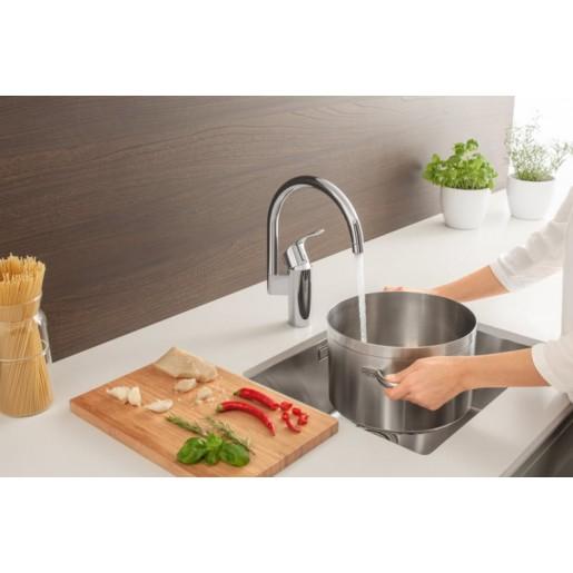 Змішувач для кухні Grohe Eurosmart з високим виливом