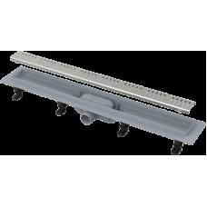 Водоотводный желоб Alca Plast APZ10 SIMPLE с порогами для перфорированной решетки (горизонтальный сток)