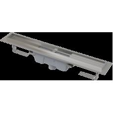 Водовідвідний жолоб Alca Plast APZ1006 PROFESSIONAL з порогами для цільної решітки (вертикальний стік)
