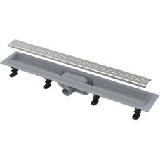 Водоотводный желоб Alca Plast APZ9 SIMPLE с порогами для перфорированной решетки (горизонтальный сток)