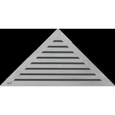 Решетка для углового водоотводного желоба Alca Plast LIFE, нержавеющая сталь-мат