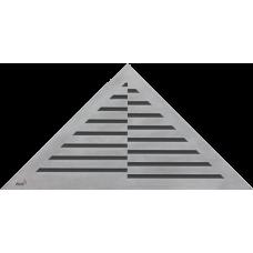 Решетка для углового водоотводного желоба Alca Plast TIME, нержавеющая сталь-мат