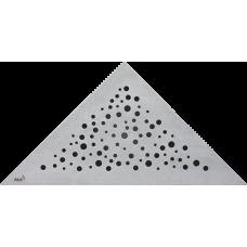 Решетка для углового водоотводного желоба Alca Plast VIEW, нержавеющая сталь-мат