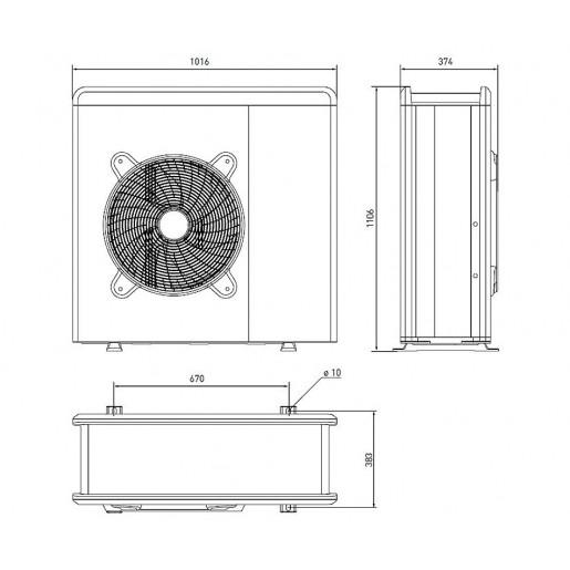 Ariston NIMBUS COMPACT 70 S T NET Инверторный тепловой насос воздух-вода, сплит-система
