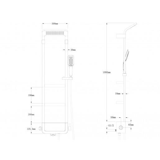 Душова система з термостатом Asignatura Unique