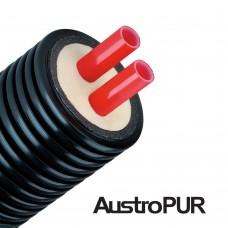 Труба подвійна в пінополіуретановій ізоляції Austropur Double