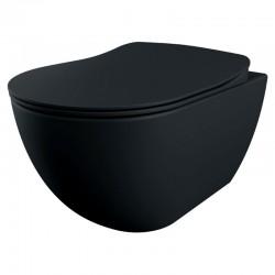 Підвісний унітаз Creavit Free Rim-off чорний матовий