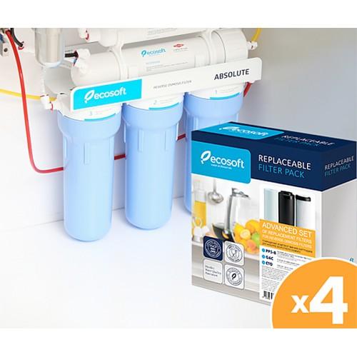 Годовой запас картриджей ECOSOFT для фильтра обратного осмоса без минерализатора