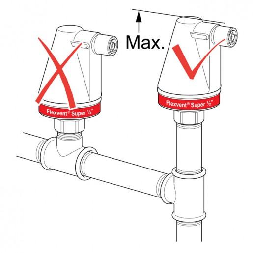 Автоматичний розповітрювач Flexvent Super