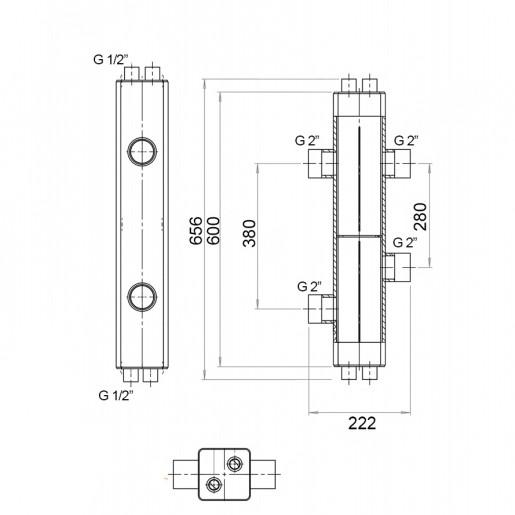 Гидравлический разделитель Hidromix 150 кВт