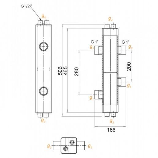 Гидравлический разделитель Hidromix 50 кВт