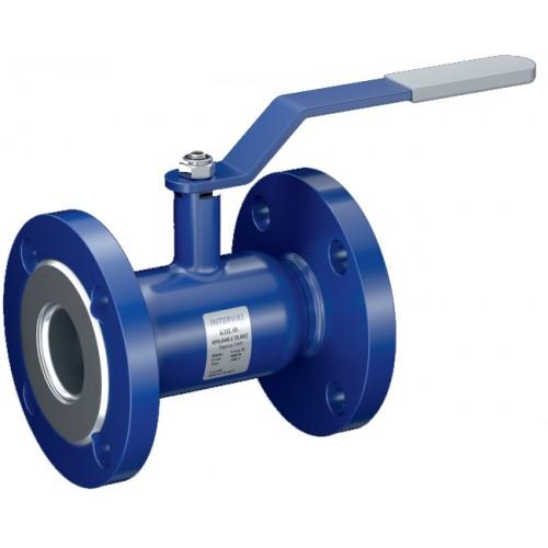 Кран шаровой INTERVAL фланцевое соединение, стандартный проход КШ.Ф.100.016.СП.002