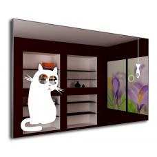Дзеркало J-MIRROR Cat&Fish 50x80 з LED підсвічуванням