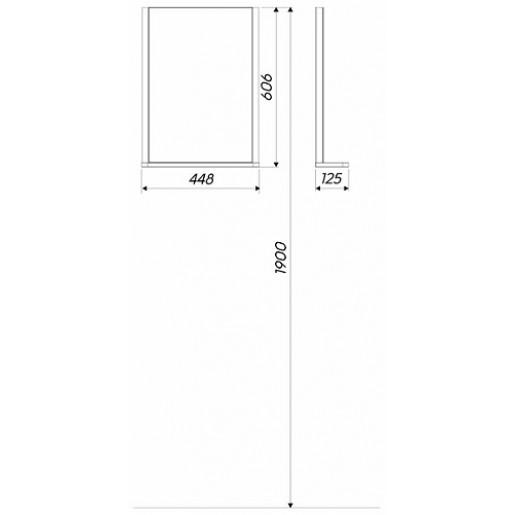 Дзеркало з підсвічуванням KOLO Rekord 60x44x12.5 см