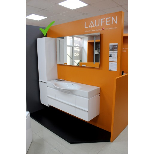 Пенал у ванну кімнату LAUFEN Palace правий 165 х 35 см білий