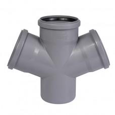 Крестовина канализационная внутренняя Ostendorf HT-Safe 110/110/110/110 мм | 67°