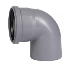 Коліно каналізаційне внутрішнє Ostendorf HT-Safe 110/110 мм | 15°, 30°, 45°, 67°, 87°