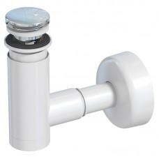 Сифон для умивальника Prevex EasyClean телескопічний білий, d40