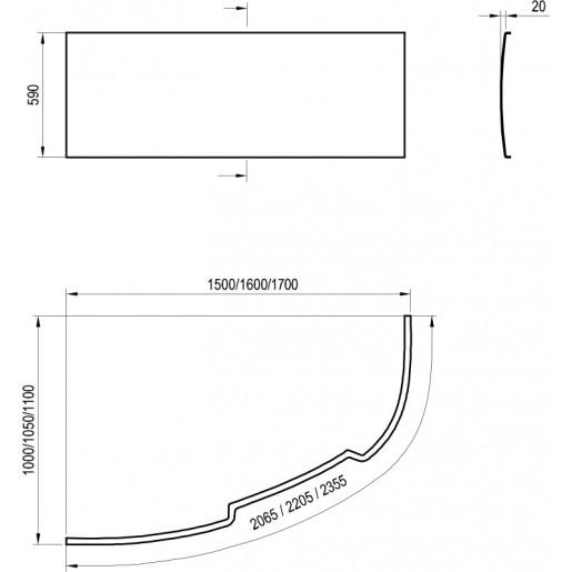 Панель для ванни Ravak Asymmetric II
