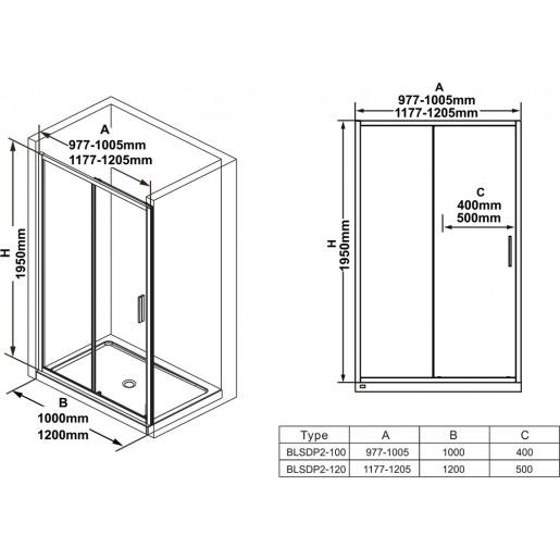 Душові двері Ravak Blix Slim BLSDP2