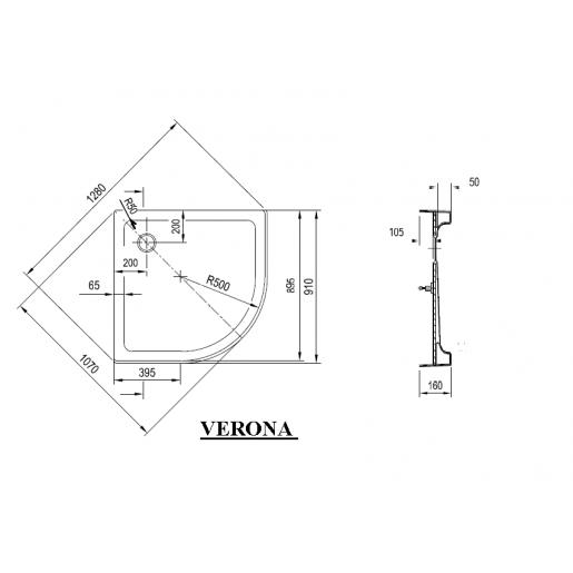 Душевой поддон Ravak Verona 90