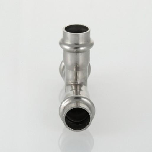 Пресс-тройник Valteс из нержавеющей стали 35х28х35 мм