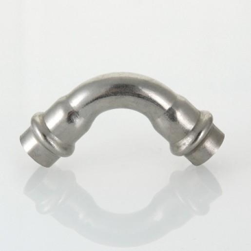Прес-кутник 90° Valtec з нержавіючої сталі внутрішній/внутрішній 15 мм